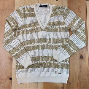 Givenchy Sport vintage V neck sweater S